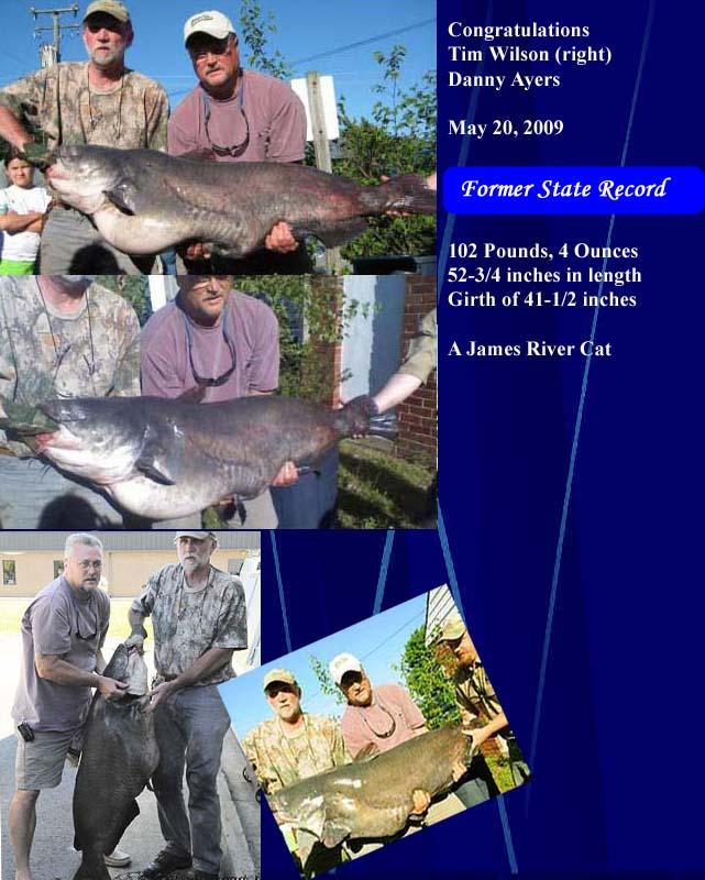 world record blue catfish weight World Record Blue Catfish Weight